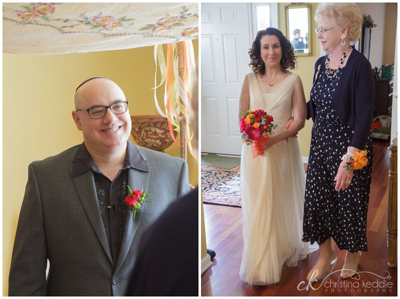 Intimate at-home Jewish wedding | Christina Keddie Photography | Monroe NJ wedding photographer
