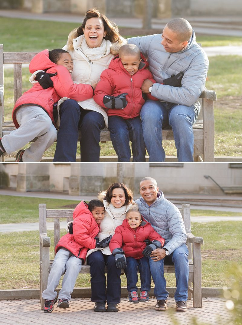 H family | Christmas family portraits in winter | Christina Keddie Photography | Princeton NJ family photographer