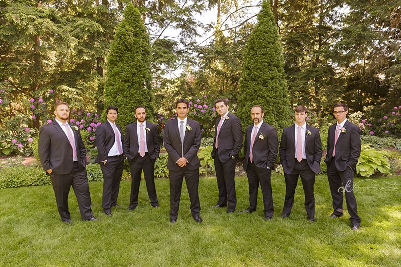 Groom and groomsmen formal group portrait | Christina Keddie Photography | Princeton NJ wedding photographer