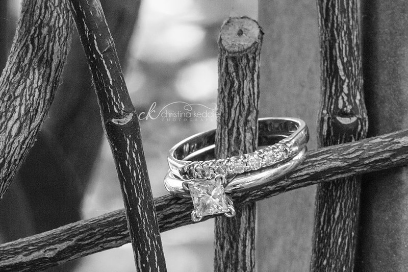 Wedding rings closeup | Christina Keddie Photography | Princeton NJ wedding photography