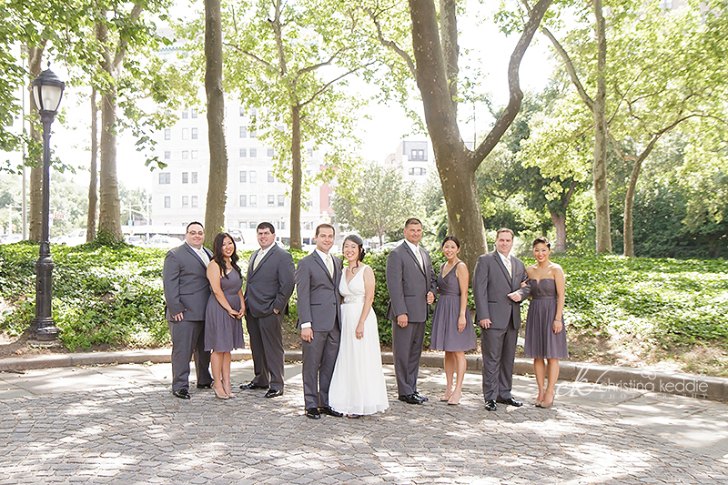 Hannah + Chris Brooklyn summer wedding | Christina Keddie Photography