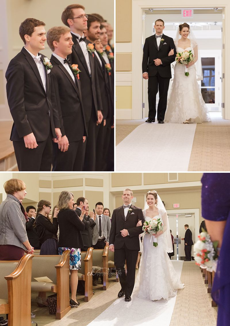 Groom's first glimpse of bride | Christina Keddie Photography | Princeton NJ wedding photographer