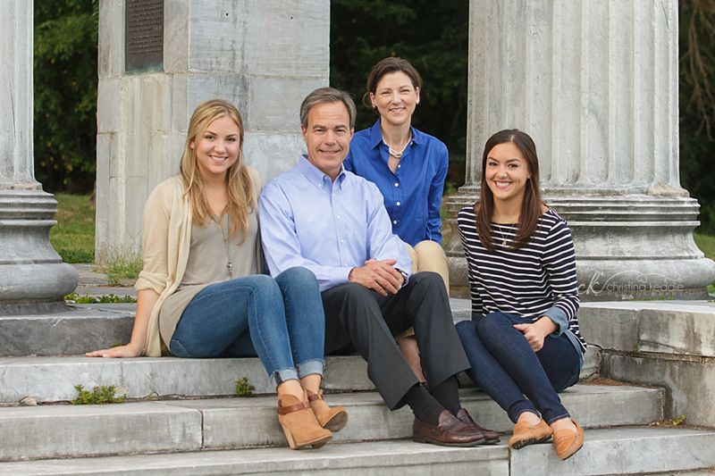 Family portrait with adult daughters | Christina Keddie Photography | Princeton NJ family photographer