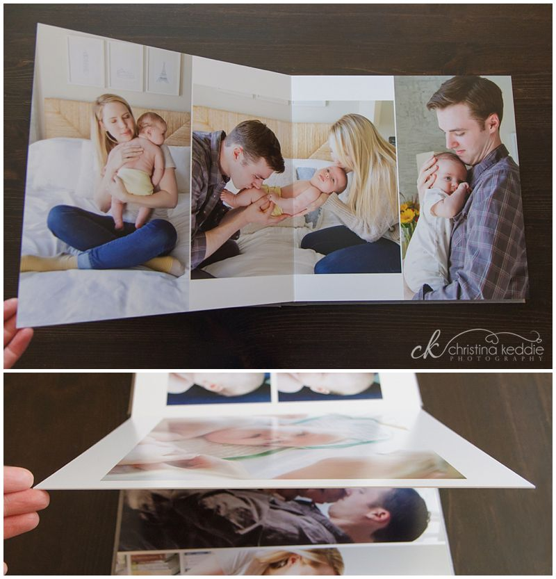 Heirloom album with family portraits | Christina Keddie Photography | Princeton NJ portrait photographer