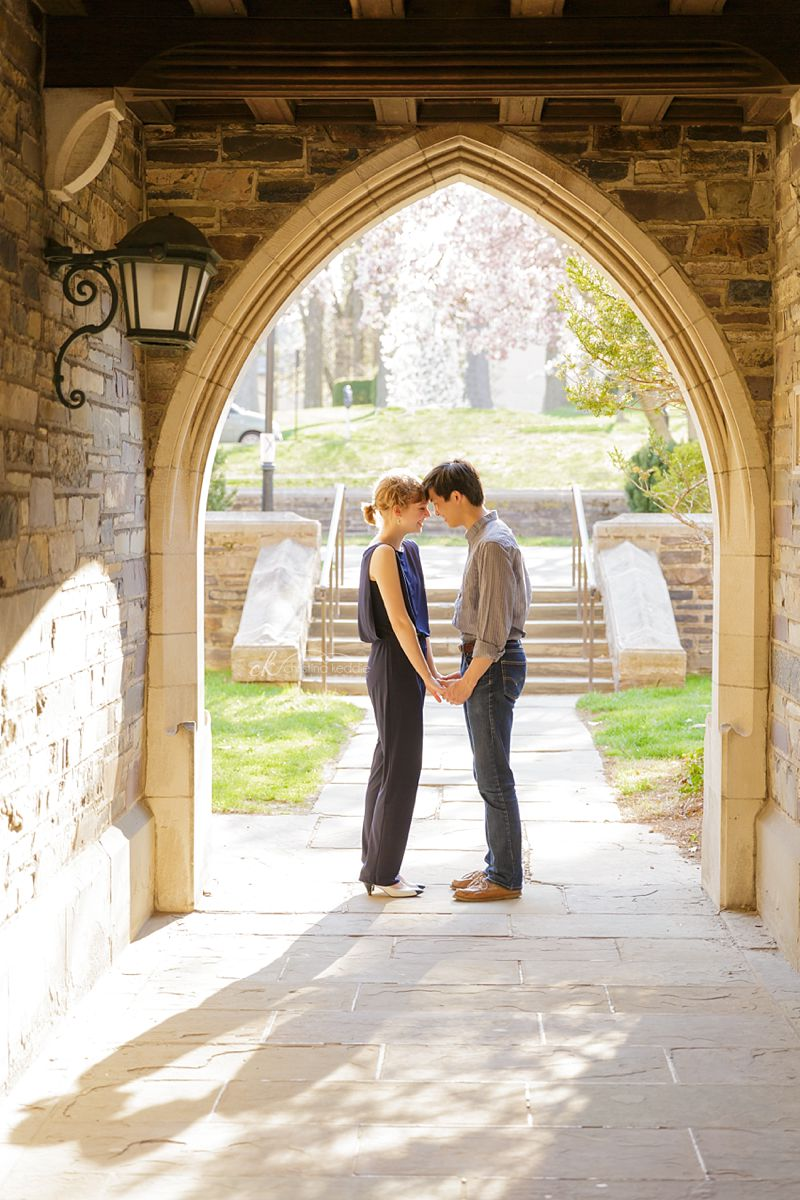 Princeton University engagement portrait gothic archway | Christina Keddie Photography | Princeton NJ engagement photographer