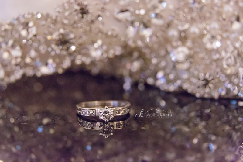 Engagement ring close-up sparkles | Christina Keddie Photography | Princeton NJ wedding photographer